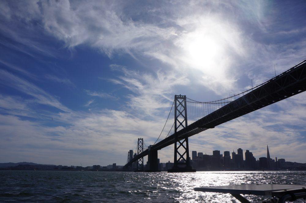 サンフランシスコベイでクルージング
